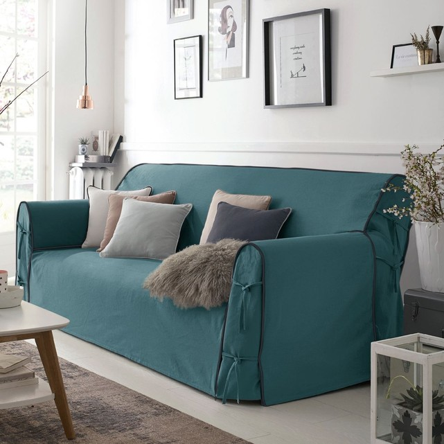 conseils d co raviver son salon gr ce aux housses de canap. Black Bedroom Furniture Sets. Home Design Ideas